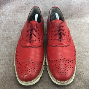 Dorothy Gaynor Shoes - RARE Dorothy Gaynor ZeroGrand Red Wingtip Mens 10!